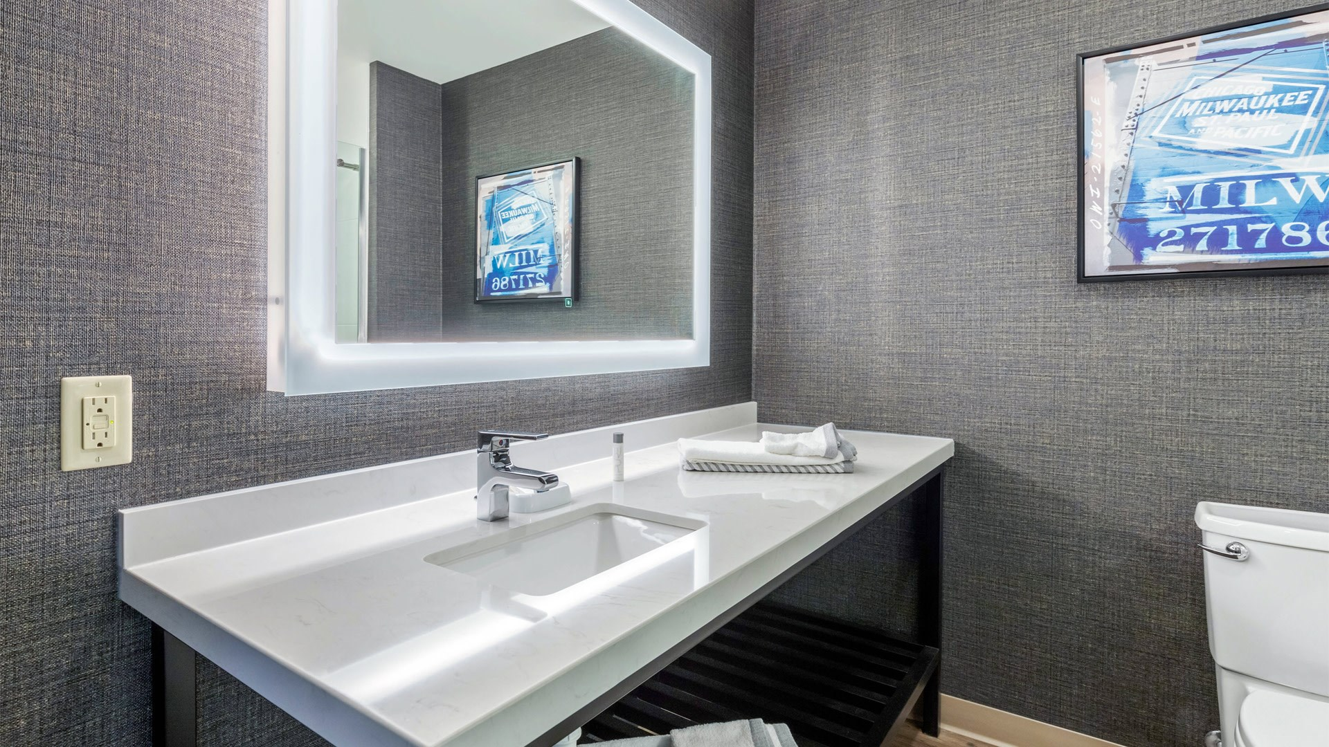 Guest Bathroom with Bluetooth Mirror