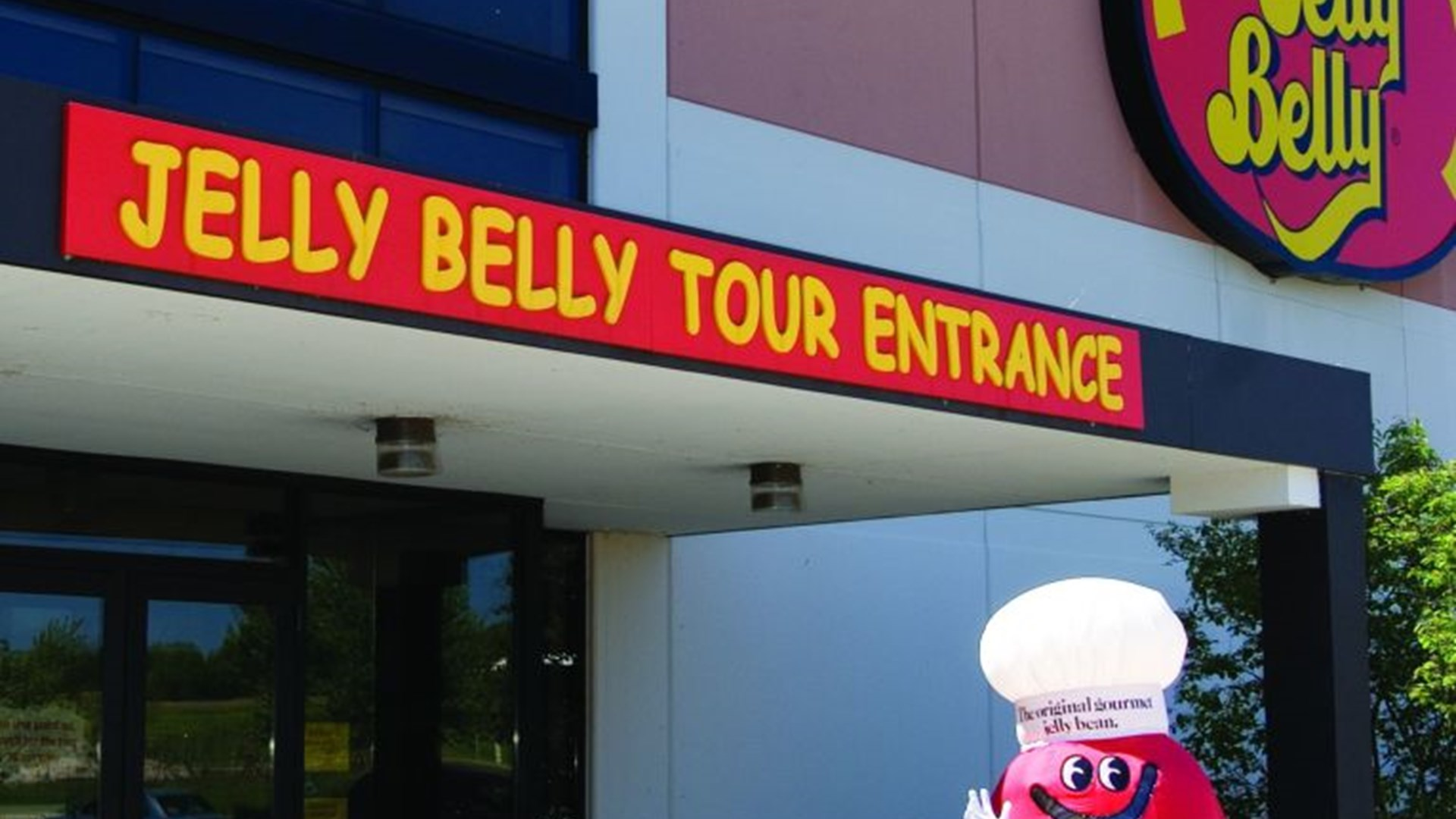 Mr. Jelly Belly at entrance