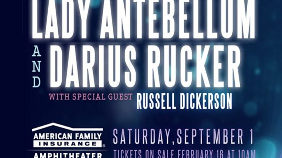 Lady Antebellum and Darius Rucker with special guest Russell Dickerson
