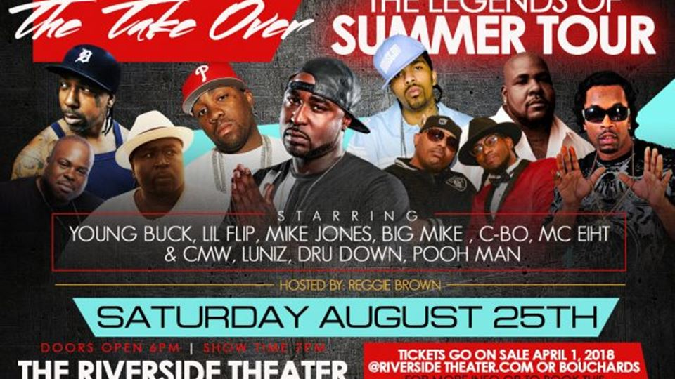 Young Buck, Lil Flip, Mike Jones and Big Mike at the Riverside Theater