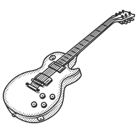 Les Paul Guitar - Side showing